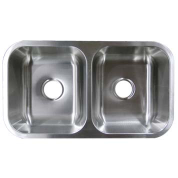 stainless steel undermount 50 50 double bowl sink um32189