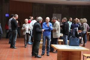 Rege Diskussionen unter den Teilnehmern