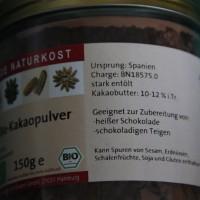 Bio-Kakaopulver Inhaltsstoffliste