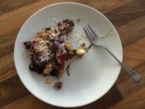 Paleo Brainfood Rezept: Blaubeeren Streuselkuchen - Fertig Angerichtet
