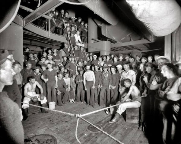 1897'den bir boks maçı