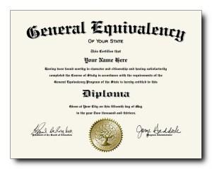 Fake Ged Diploma Certificate