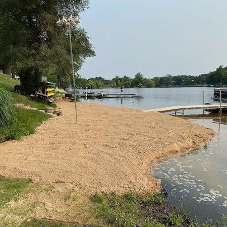 bech sand renourishment installation