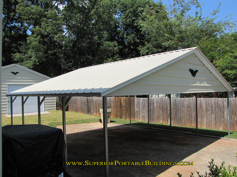 Vertical Roof Steel Carport VC 4