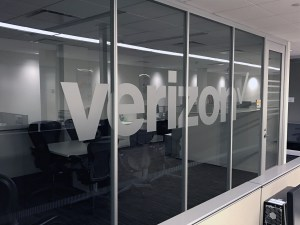 Verizon Window Lettering