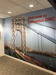 WelcomeLivingston Wall Mural | Large Format Digital Printing | Boston, MA