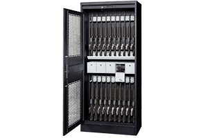 Each Weapon Storage Cabinet Is Equipped With A Bi Parting Tambour Door That Comes Complete Tubular Lock And Built In Padlock Security Bar