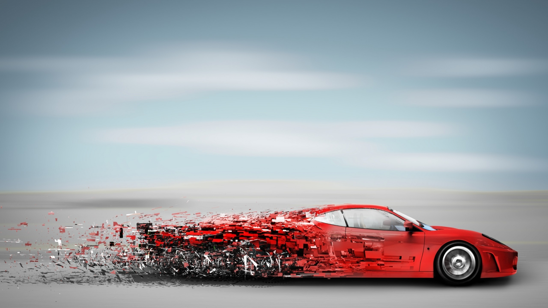 Abstract Red Speedy Car Sport Car Wallpaper Wallpaper