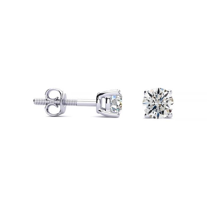 1/2ct Fine Quality Diamond Stud Earrings In Platinum
