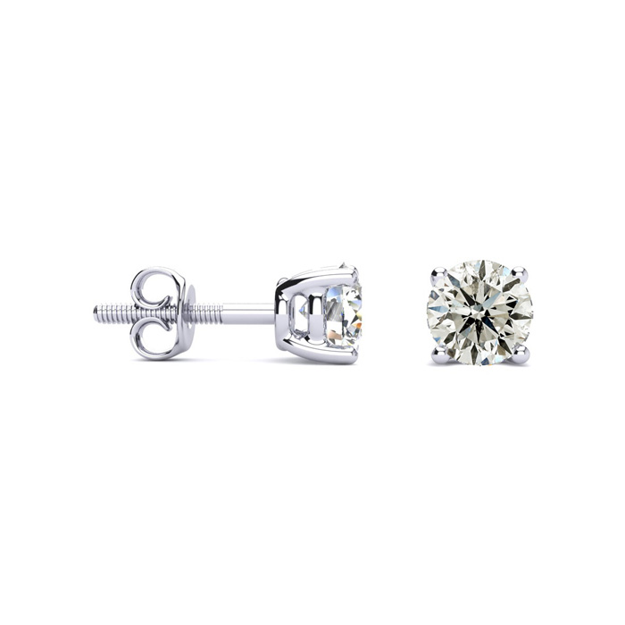 Our Most Popular Platinum 1ct Diamond Stud Earrings