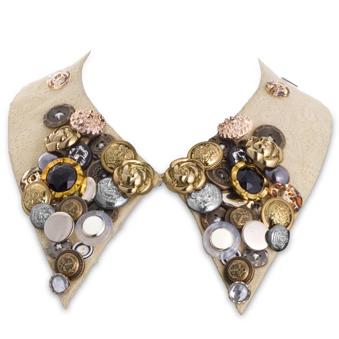 Boho Collar Necklace - Cream
