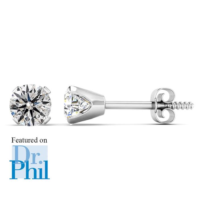 1/2ct Diamond Studs in 14k White Gold