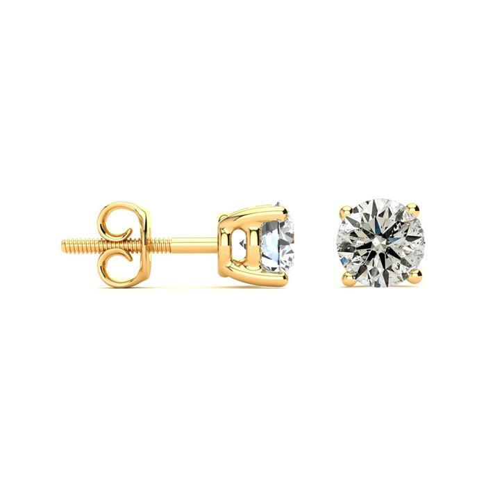 Great Deal on 1 1/2ct Diamond Stud Earrings In 14k Yellow Gold