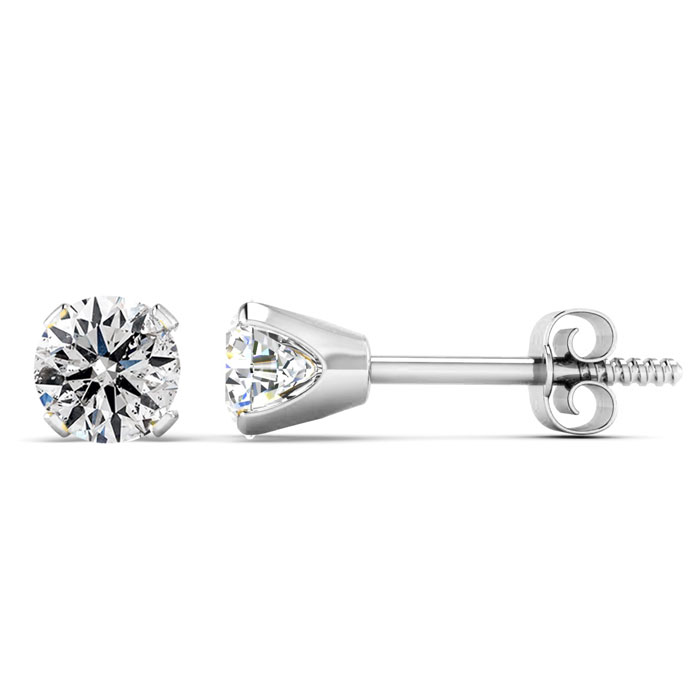 Our Most Affordable 2/3ct Diamond Stud Earrings in 14k White Gold