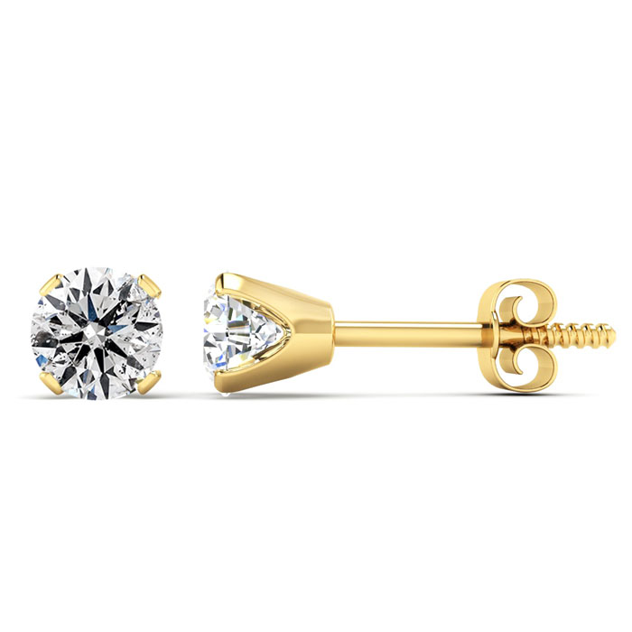 Our Most Affordable 2/3ct Diamond Stud Earrings in 14k Yellow Gold