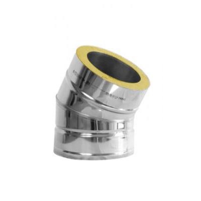 Komínové koleno 30°, DN130 mm, izolace 30 mm
