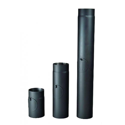 Kouřová roura s čistícím otvorem 120/250/2 mm