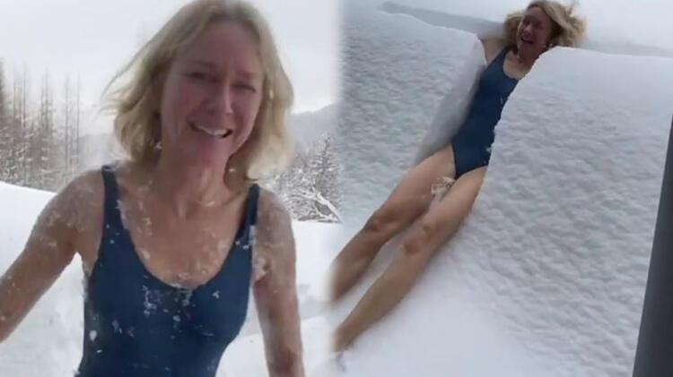 Naomi Watts mayoyla karın içine atladı