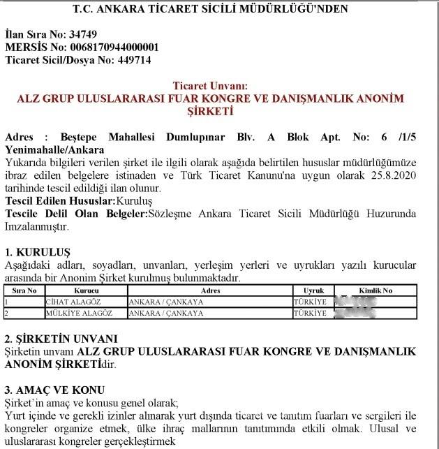 225248485 ticaret sicill - Pekcan üretmiş, danışmanı Cihat Alagöz satmış!