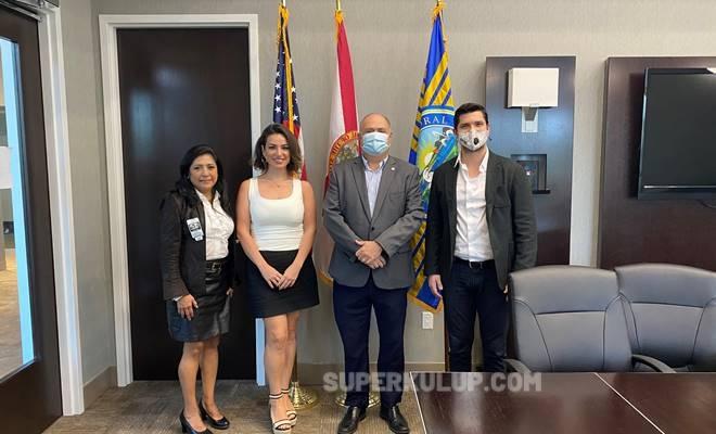Zeneida Villar Nevin Agrikli Juan Carlos Bermudez Emre Tuna - Başarılı iş insanı Emre Tuna Florida Doral'da yüzlerce kişiye iş imkanı sağlayacak