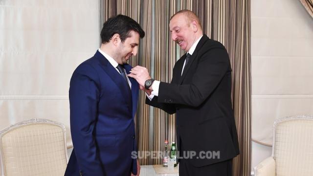 Azerbaycan Cumhurbaşkanı Aliyev'den Bayraktar'a madalya