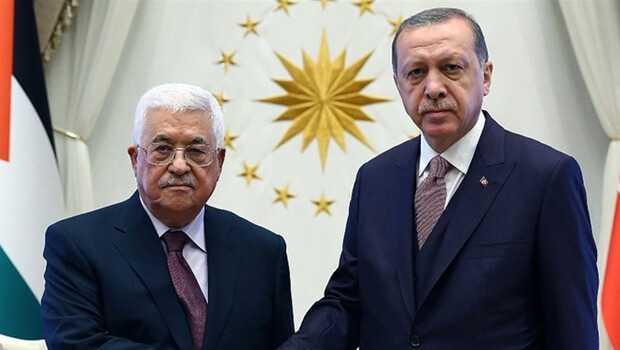 Son dakika… Cumhurbaşkanı Erdoğan, Mahmud Abbas ile görüştü!