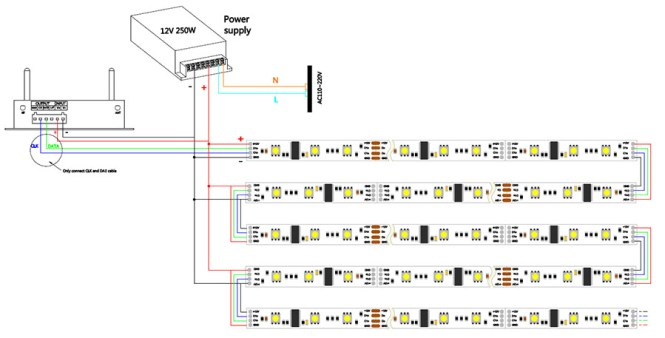 led tape wiring diagram led image wiring diagram rgb led strip wiring diagram wiring diagrams on led tape wiring diagram