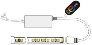 AC110220V Max 600W, PWM LED RGB Wireless RF 6 keys Infrared Remote Controller, Waterproof IP67