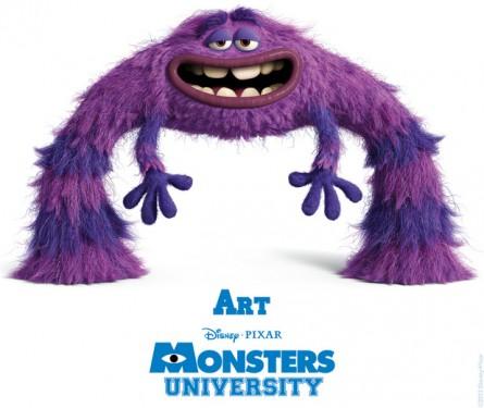 Art é o monstro que vai ser dublado por Georges St. Pierre. Foto: Disney/Pixar (Divulgação)
