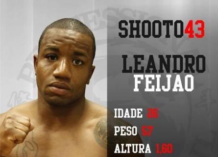 Leandro Feijão lutaria contra Gabriel Brasil no Shooto 43. Foto: Divulgação