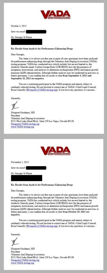Exames antidoping divulgados por GSP. Foto: Twitter/Reprodução