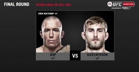 """St. Pierre e Gustafsson disputam quem vai acompanhar J. Jones na capa do """"EA Sports UFC"""". Foto: Reprodução/UFC.com"""