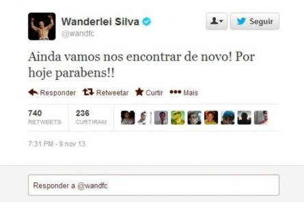 Wanderlei Silva Twitter para Belfort