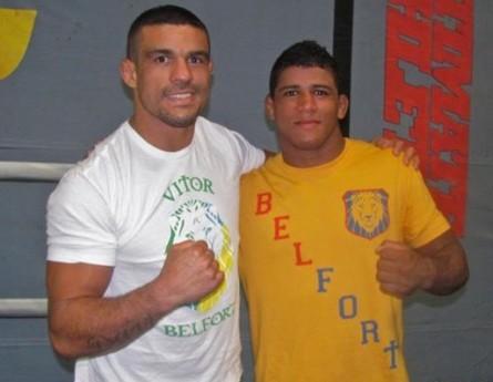 Durinho (dir.) e Belfort (esq.), companheiros na Blackzilians. Foto: Facebook/Reprodução