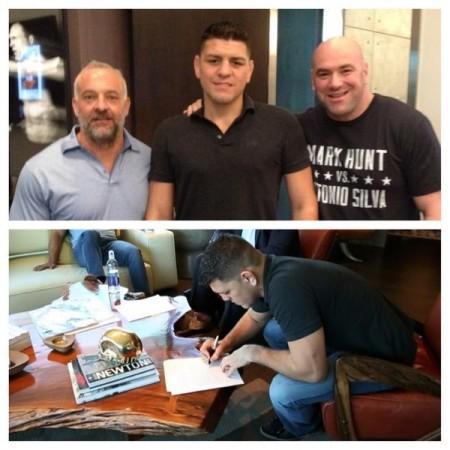 Diaz renovou seu contrato com o UFC. Foto: Reprodução/Twitter
