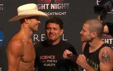 Cerrone (esq.) e Miller (dir.) fazem a luta principal nesta quarta. Foto: Reprodução/YouTube
