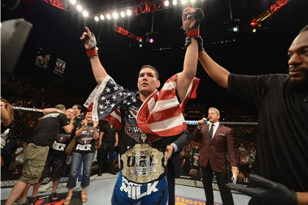 Weidman (foto) espera enfrentar Belfort em sua próxima luta. Foto: Josh Hedges/UFC