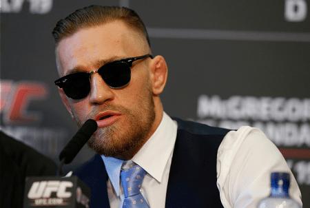 Irreverente, C. McGregor (foto) chamou a atenção mesmo em meio à briga na coletiva. Foto: Josh Hedges/UFC