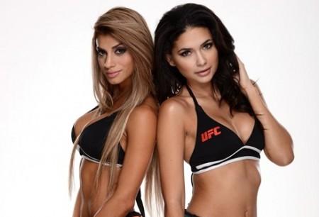 Betzy (esq.) e Jamillette (dir.) são as novas ring girls do UFC. Foto: Divulgação