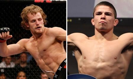 Nelson (esq.) e Story (dir.) fazem luta principal em Estocolmo. Foto: Produção Super Lutas (UFC/Divulgação)