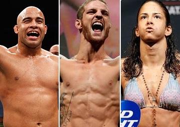 Warlley (esq.), Wagnão (centro) e J.Thai (dir.) vão lutar em casa. Foto: Produção SUPER LUTAS (Divulgação)