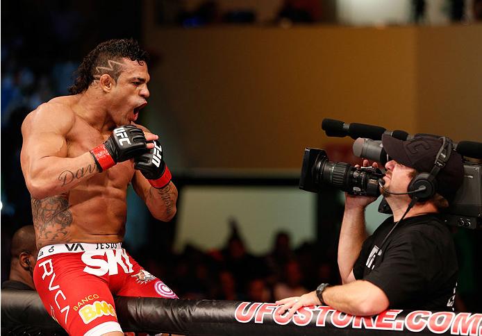 Belfort (foto) bateu Henderson em SP. Foto: Josh Hedges/Zuffa LLC