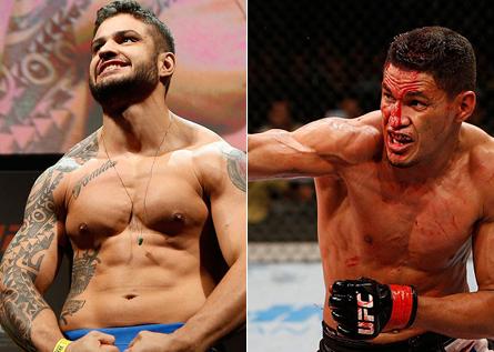 R. Monstro (esq.) e I. Marajó (dir.) se enfrentarão no UFC 183. Foto: Produção MMA Press (Divulgação/UFC)