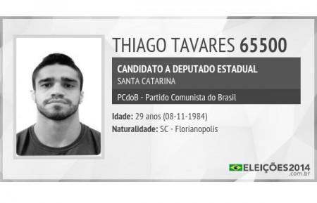 T. Tavares ficou como suplente de sua coligação na Assembleia. Foto: Reprodução