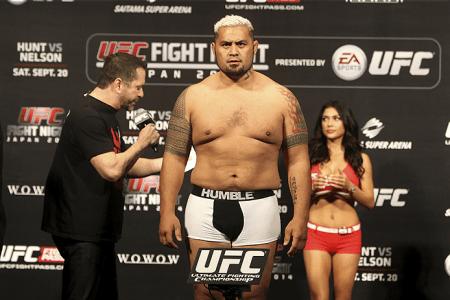 Famoso pelo tipo físico, M. Hunt deverá lutar contra a balança até 14 de novembro. Foto: Josh Hedges/UFC