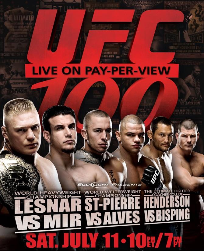 Evento UFC 100 marcou história. Divulgação/UFC