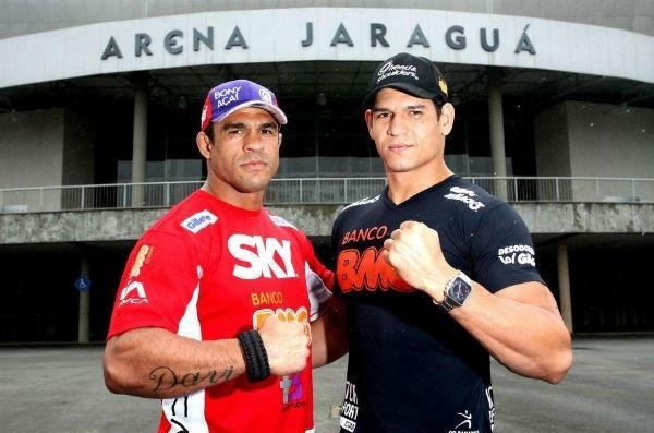 Mutante (dir.) e Vitor (esq.) são companheiros de treinos na Flórida (EUA). Foto: Divulgação/UFC