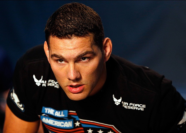 C. Weidman (foto) encara V. Belfort no UFC 187. Foto: Josh Hedges/UFC