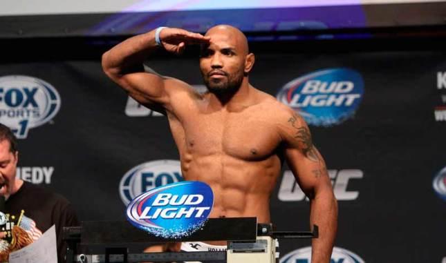 Y. Romero (foto) lesionou o joelho e está fora da luta contra R. Jacaré. Foto: Josh Hedges/UFC