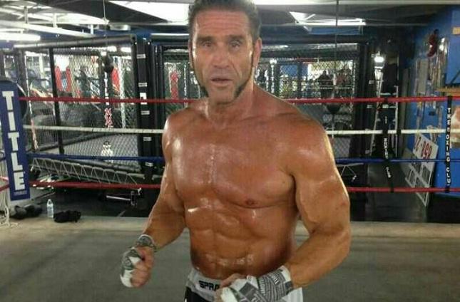 K. Shamrock: aparência do veterano não é de um atleta de 51 anos. Foto: Reprodução